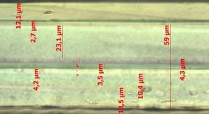Mikrotomschnitt Verbundfolie